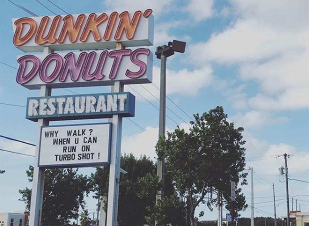 Old dunkin' donuts restaurant