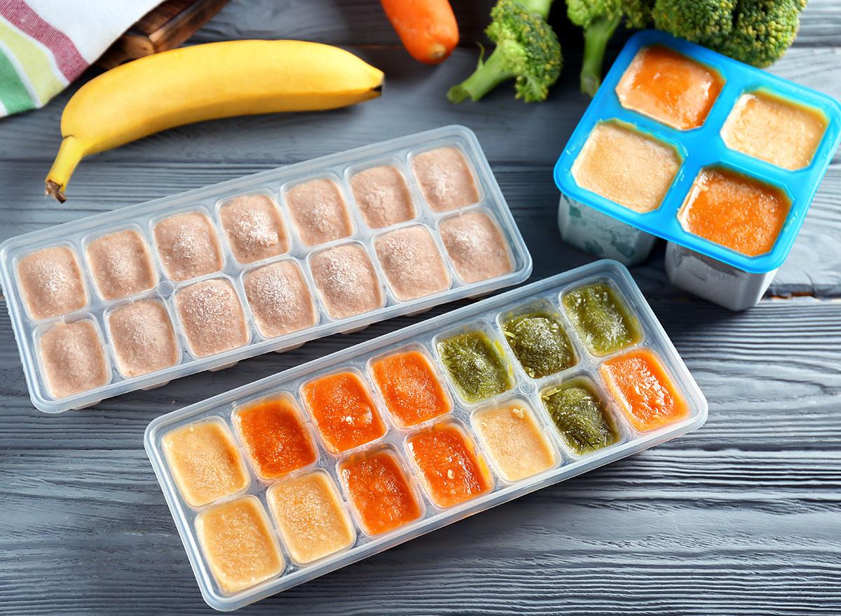 Puree food cubes