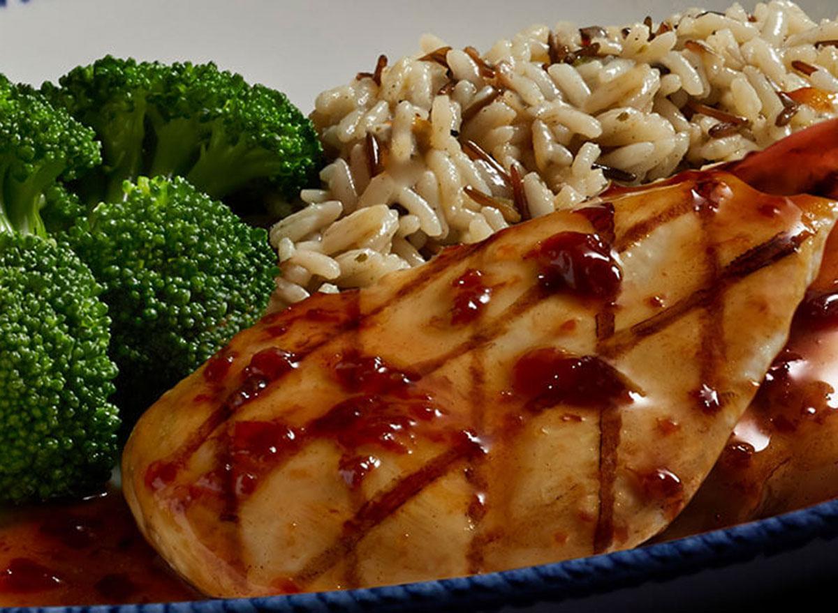 Maple glazed chicken dinner