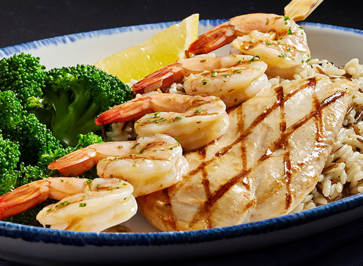 Shrimp and wood grilled chicken