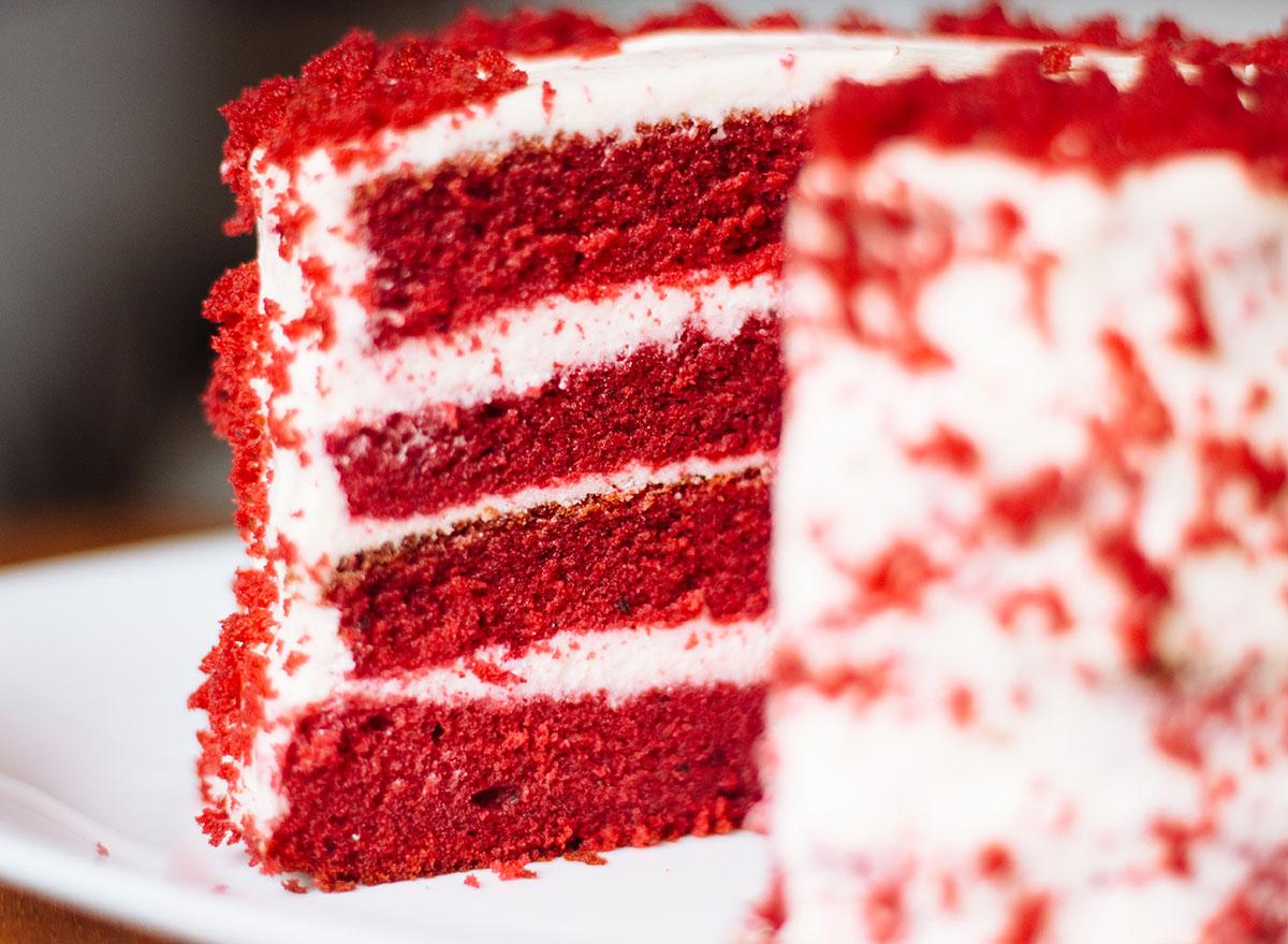 Red velvet closeup