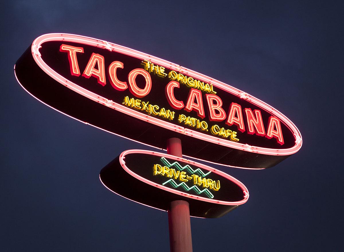 Taco cabana mexican patio cafe