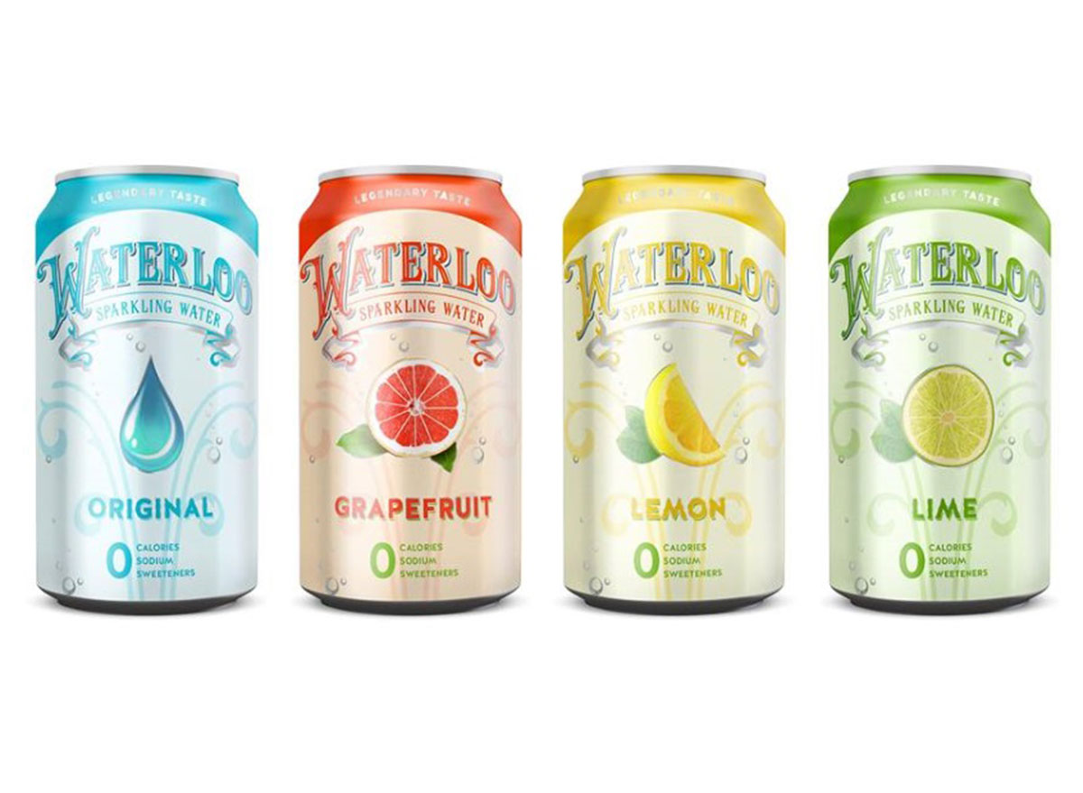 Waterloo sparkling water cans