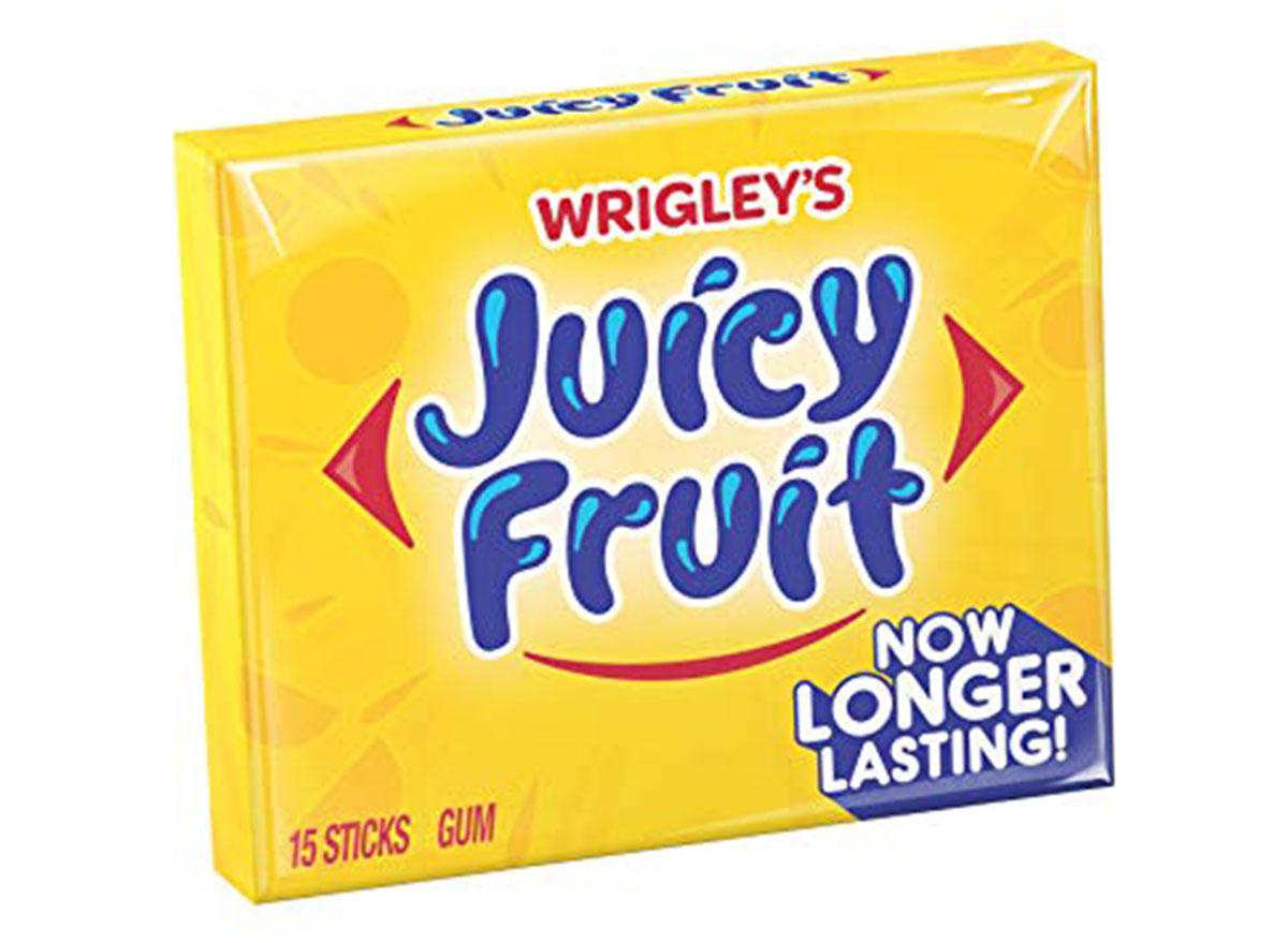 Wrigley's long lasting flavor juicy fruit gum pack