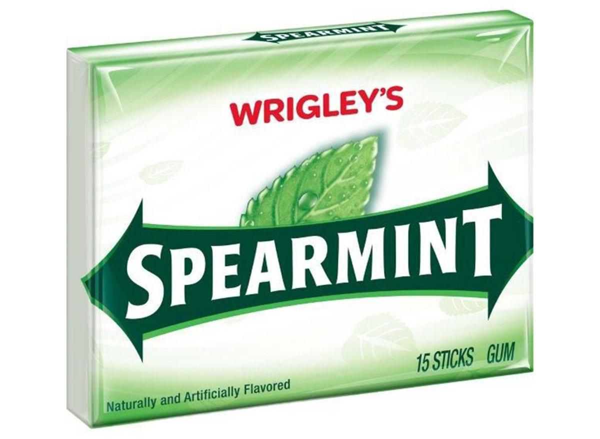 Wrigley's spearmint gum pack