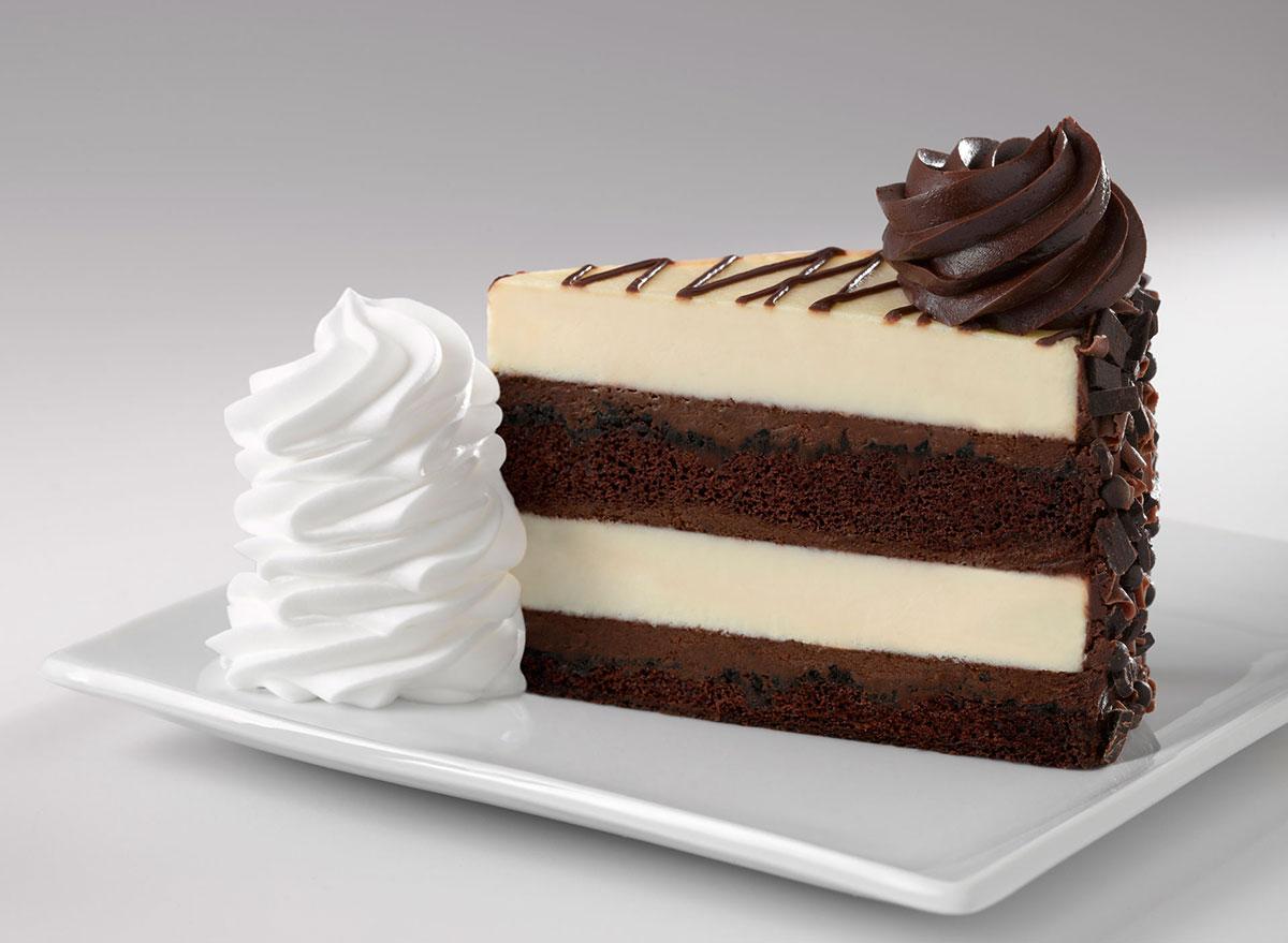 cheesecake factory 30th anniversary cheesecake slice