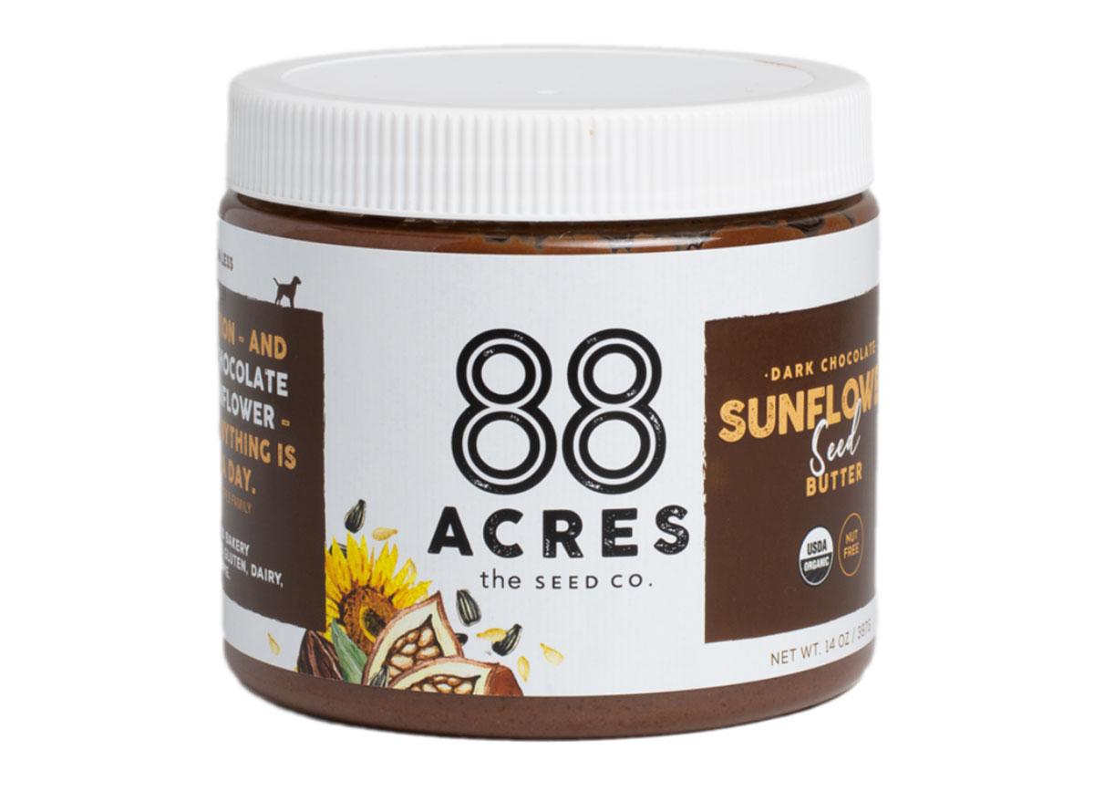 88 acres dark chocolate sunflower seed butter jar