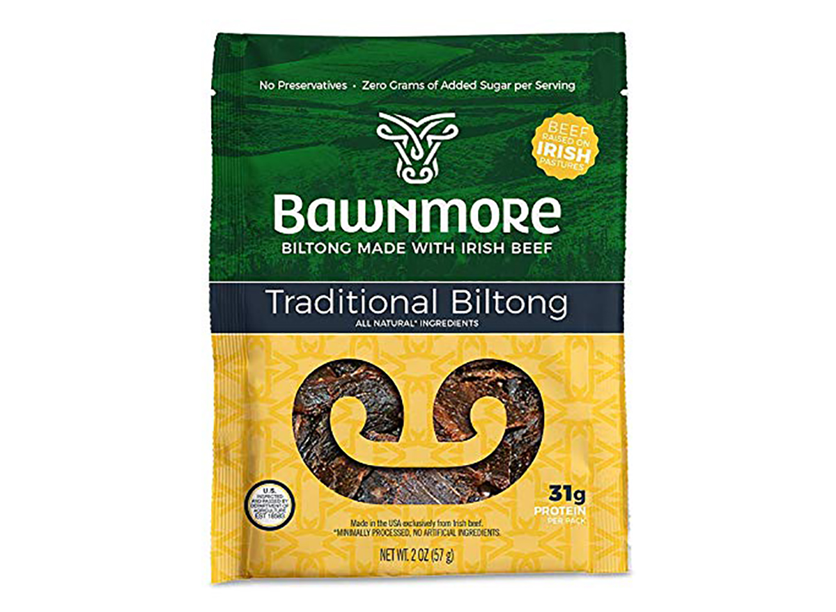 package of bawnmore biltong meat snack