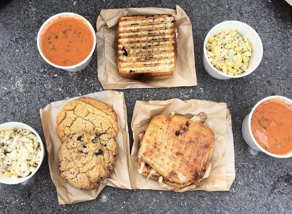 subito soup mac salad cookies sandwich picnic
