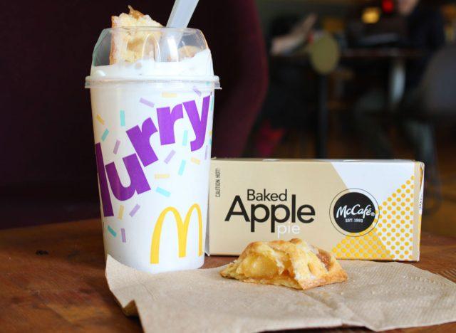 mcdonalds secret menu apple pie mcflurry