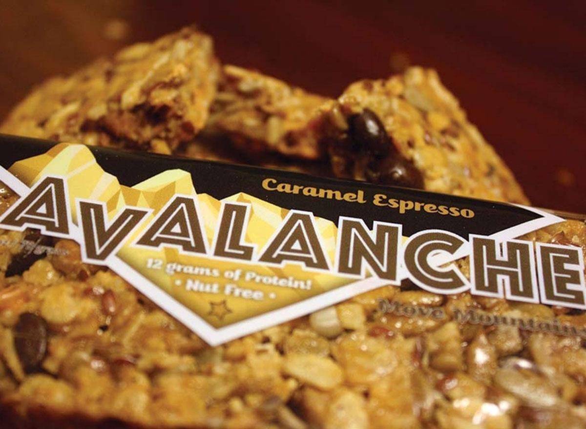 avalanche caramel espresso bar closeup