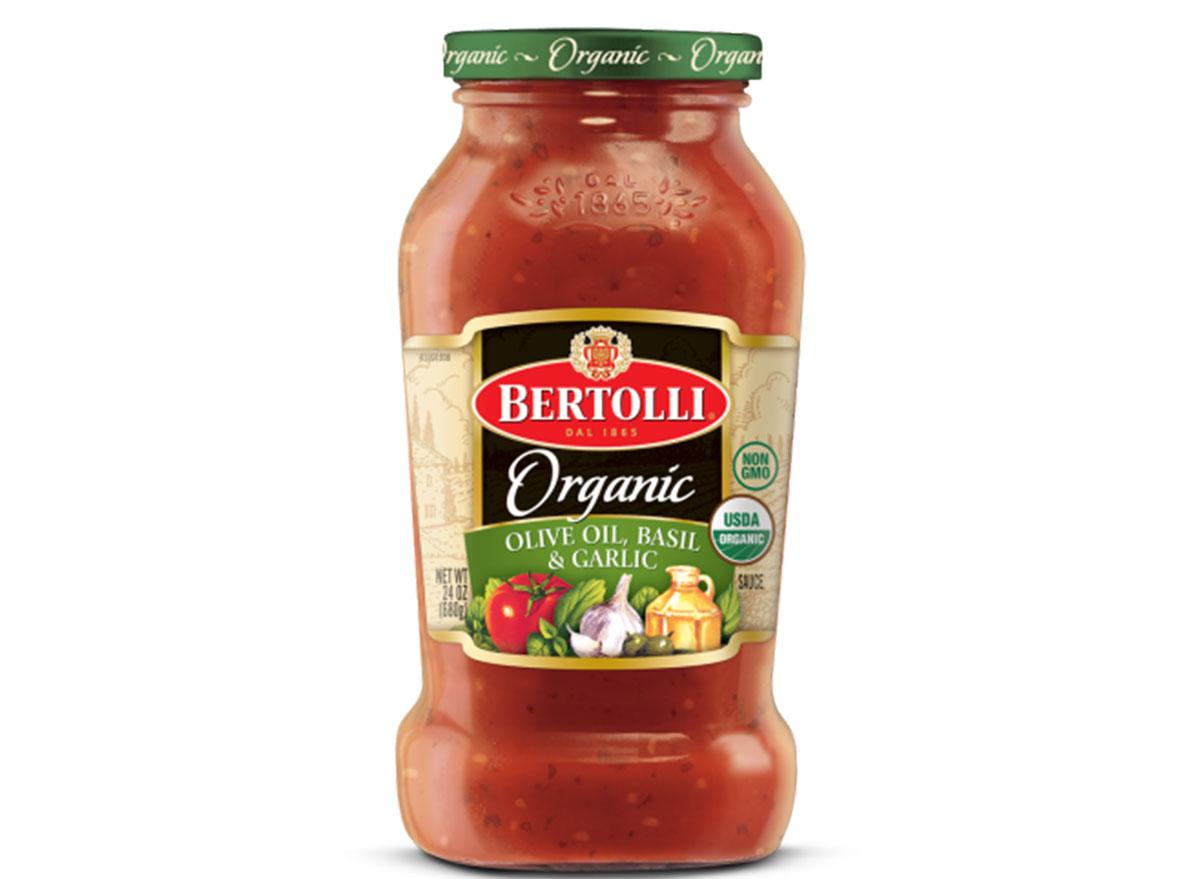 bertolli organic olive oil basil garlic tomato sauce jar