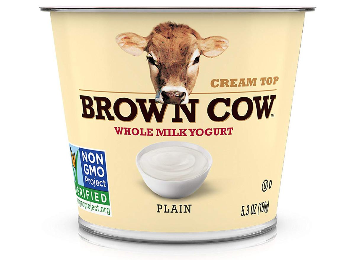 brown cow whole milk plain yogurt