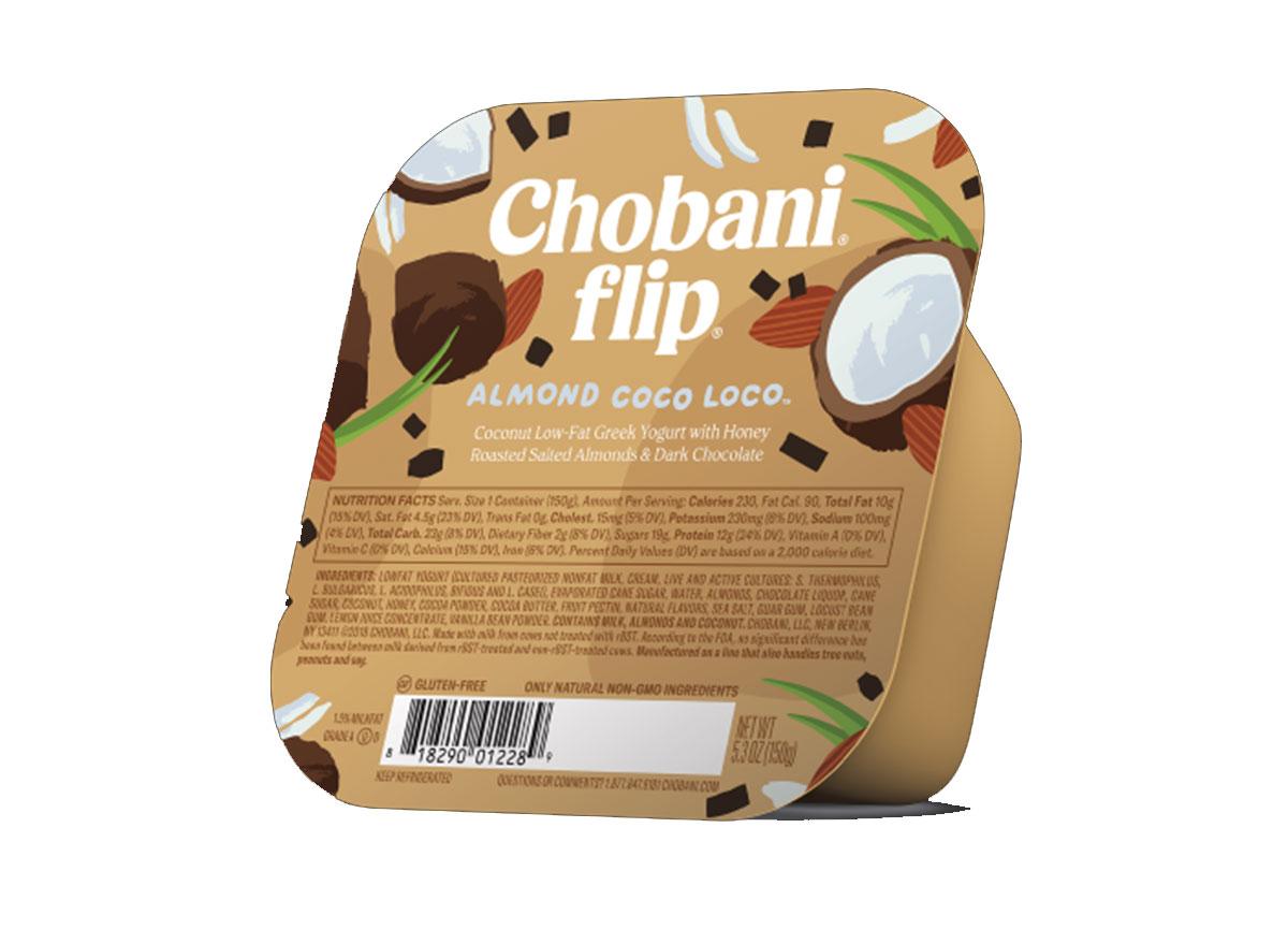 Chobani flip almond coco loco greek yogurt cup