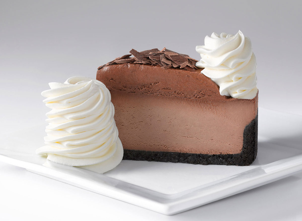 cheesecake factory chocolate mousse cheesecake slice