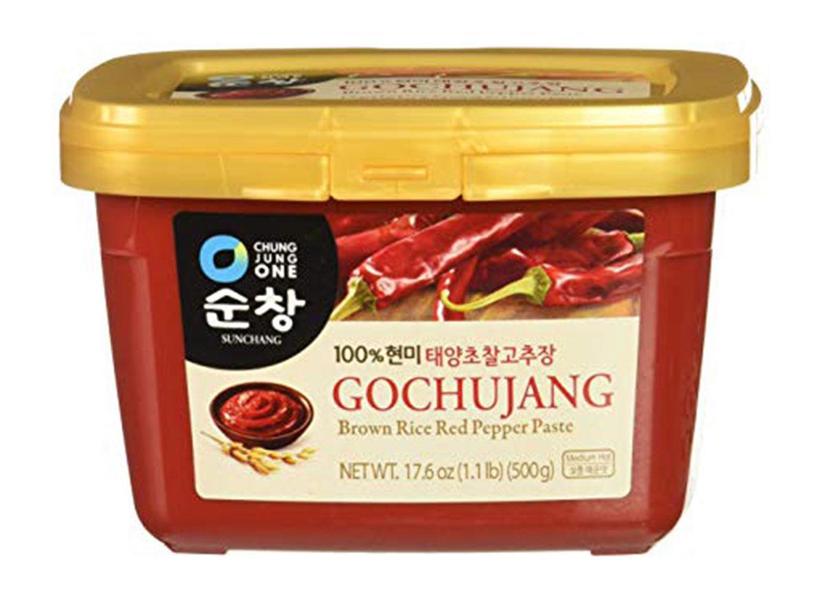 chung jung one sunchang hot pepper paste gold gochujang tub