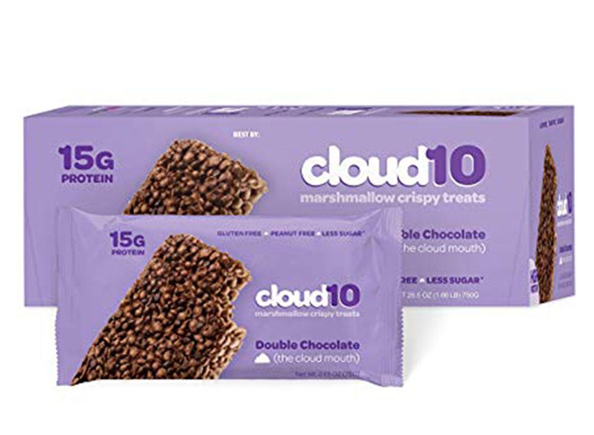 cloud 10 marshmallow crispy treats box and bar
