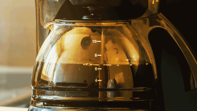 coffee maker closeup
