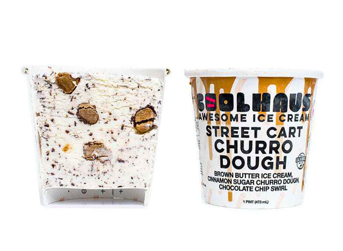 coolhaus street cart churro dough ice cream tub