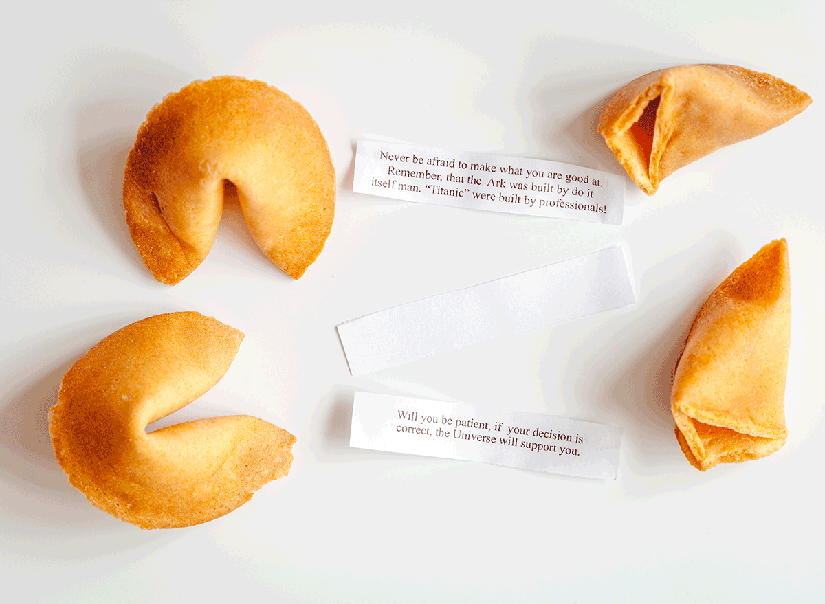 fortunes with their fortune cookies
