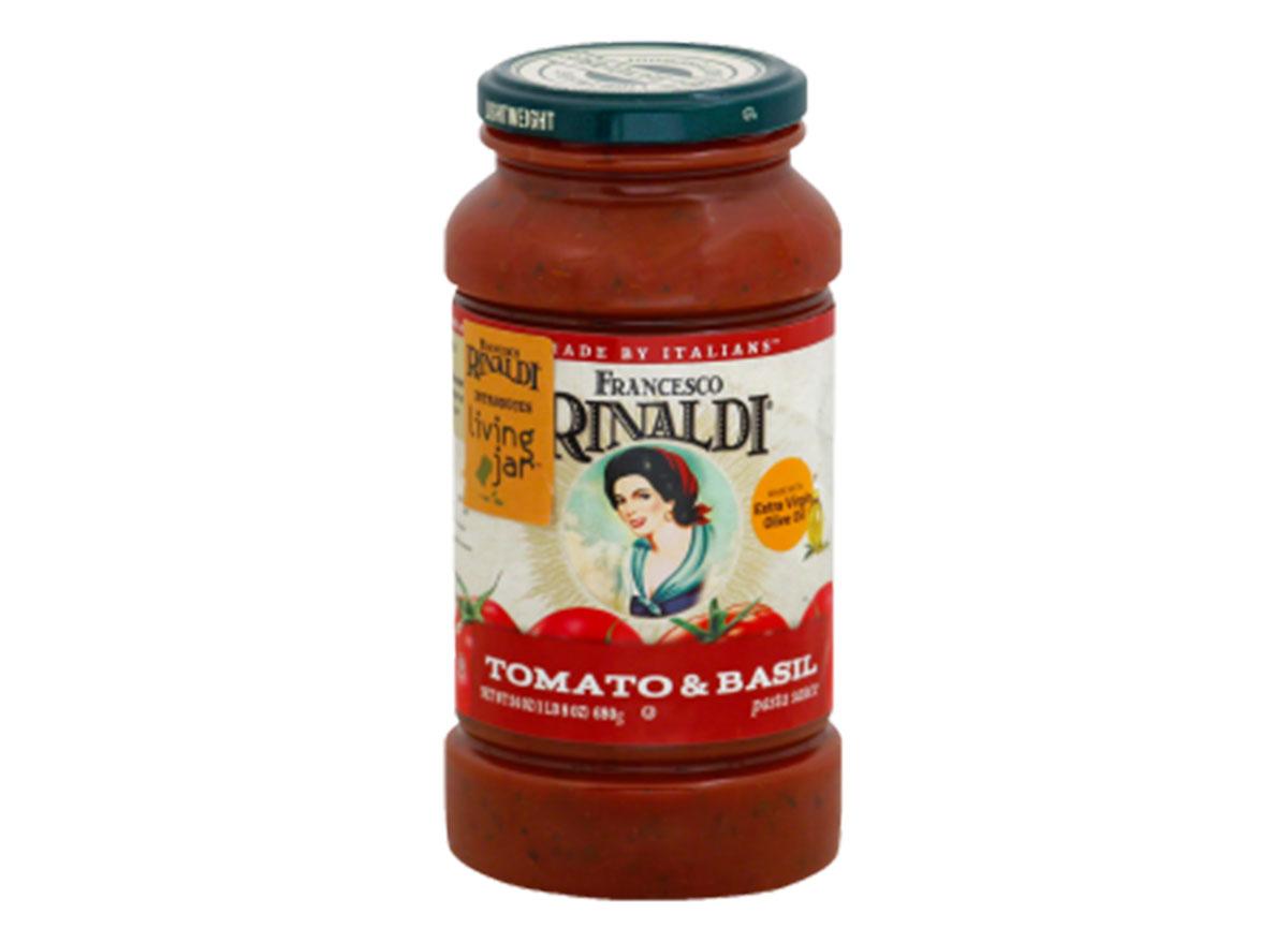 francesco rinaldi tomato basil tomato sauce jar
