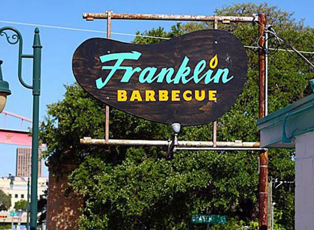 franklin barbecue sign