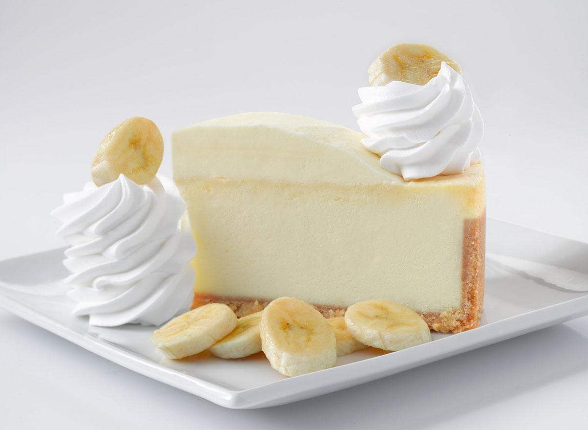 cheesecake factory fresh banana cream cheesecake slice