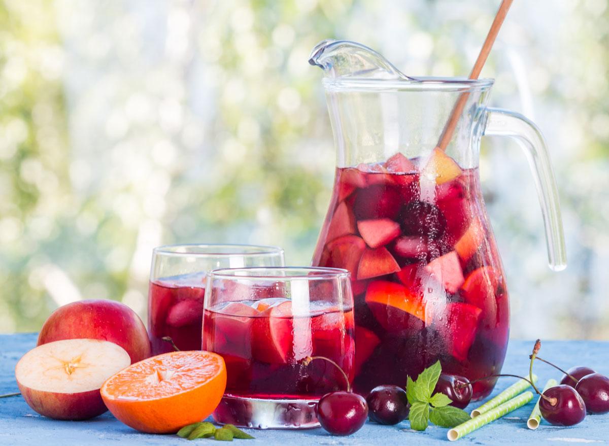 Red wine fruit sangria