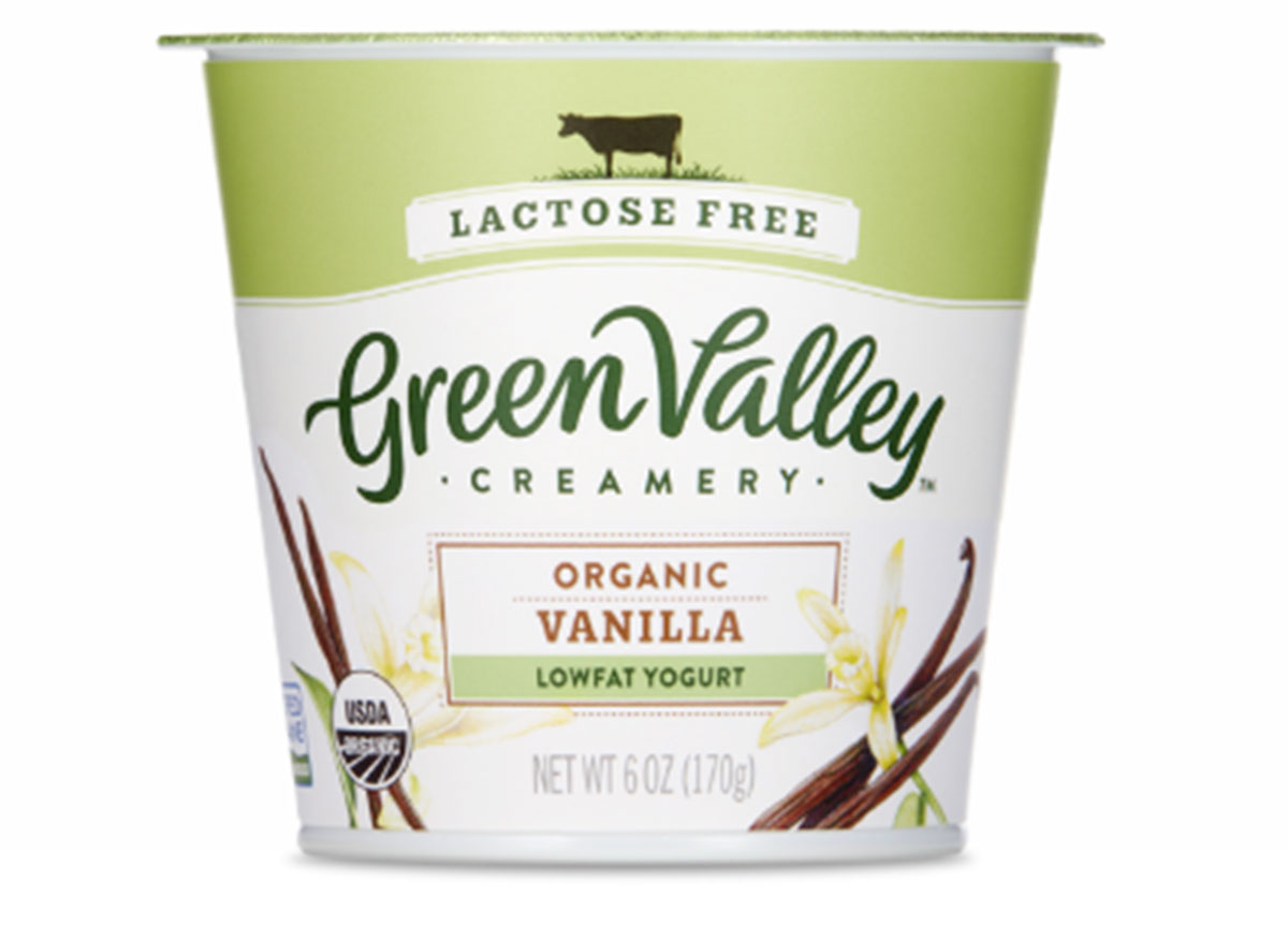 Green valley creamery lactose free organic vanilla lowfat yogurt 6 oz cup