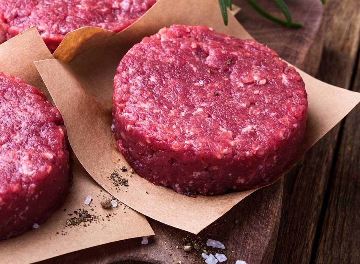 ground beef patties on brown paper - omega 3 foods