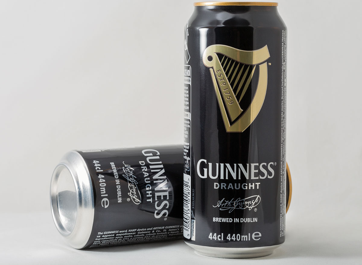 guinness beer cans