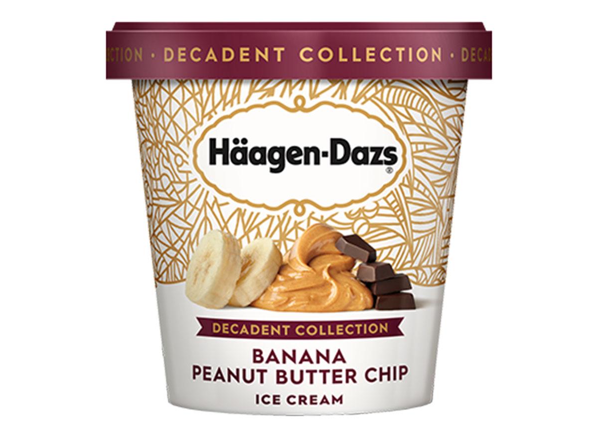häagen-dazs banana peanut butter chip ice cream tub