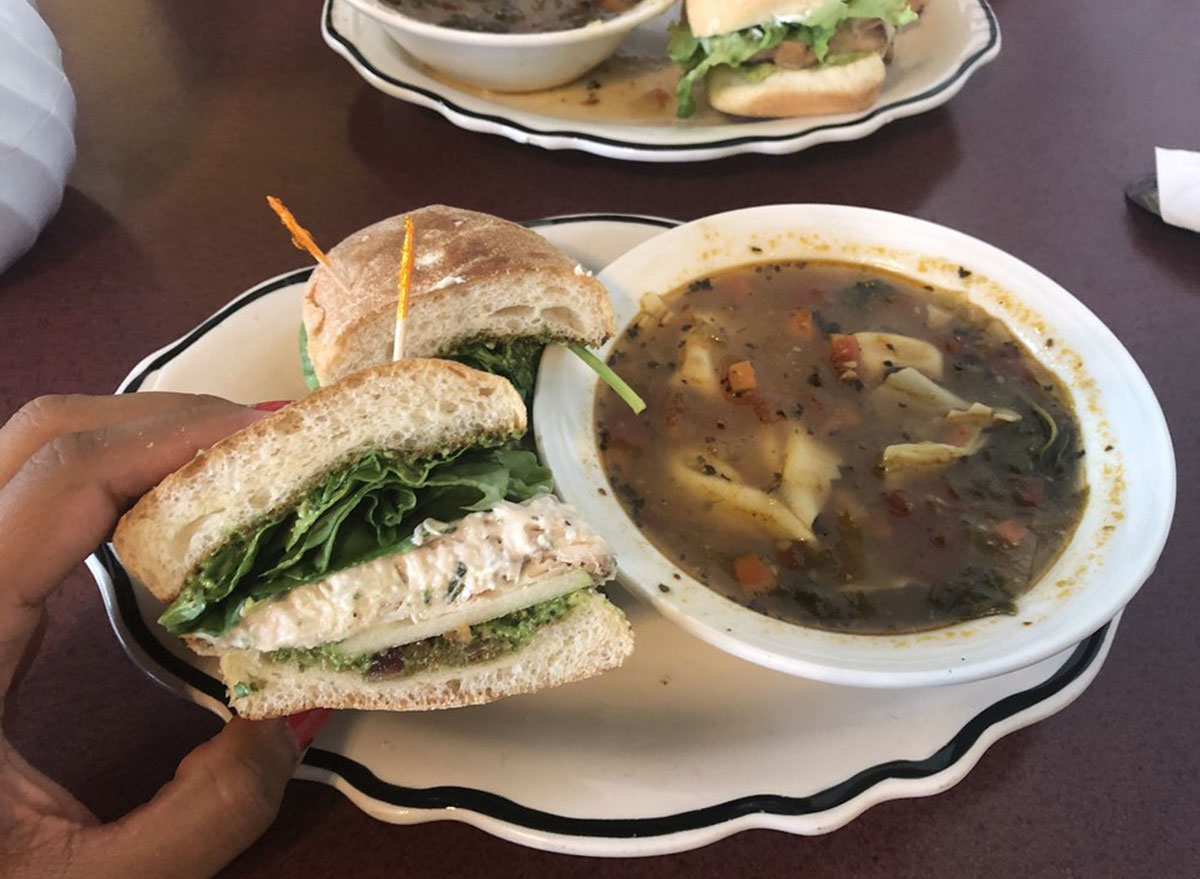 her soup kitchen soup sandwich meal