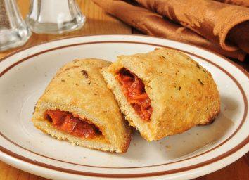 hot pocket stuffed with marinara sauce