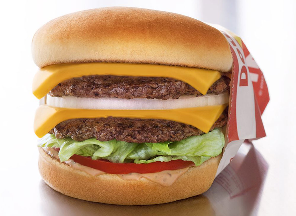In-n-out double double burger in wrapping
