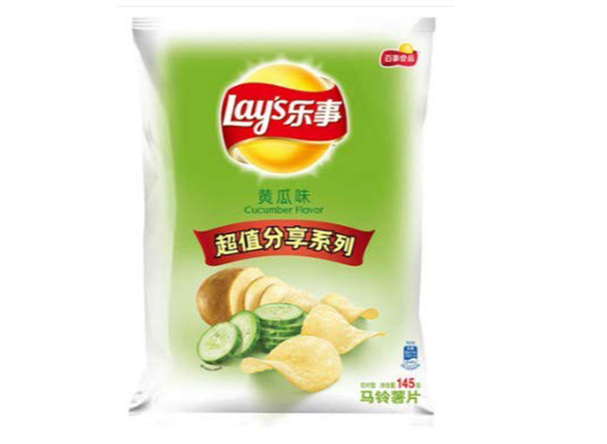 lays cucumber flavored chips bag