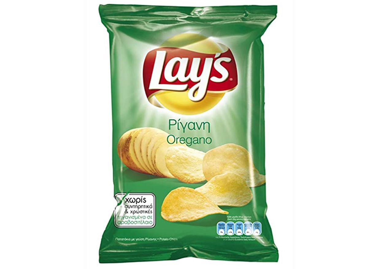 lays oregano flavored chips bag