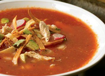 low-calorie tortilla soup