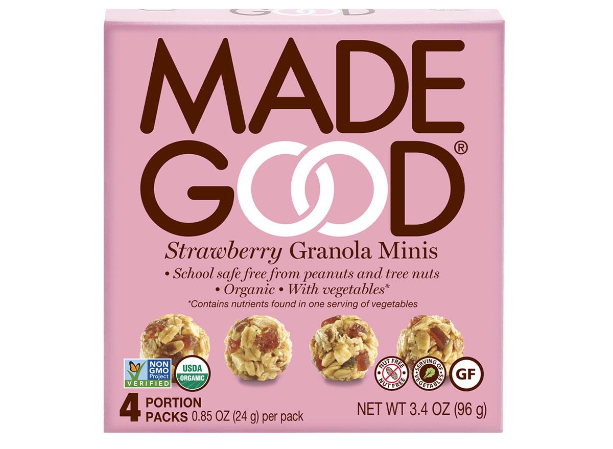 made good strawberry granola minis box