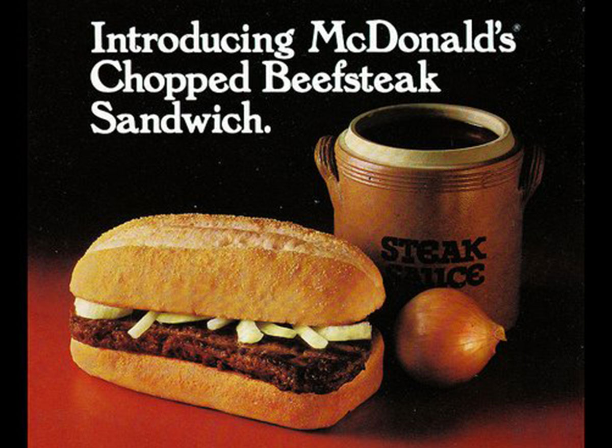 mcdonalds chopped beefsteak sandwich