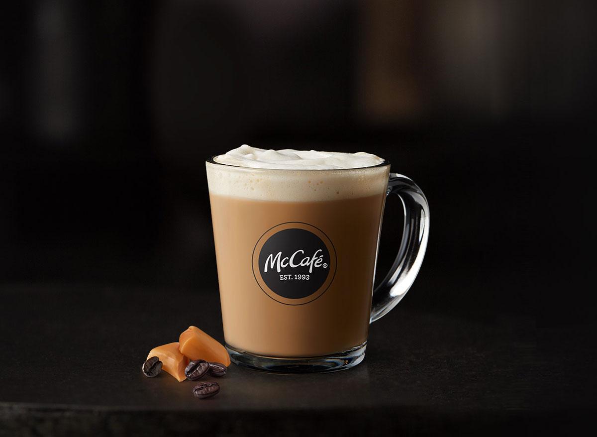 Mcdonalds mccafe caramel latte