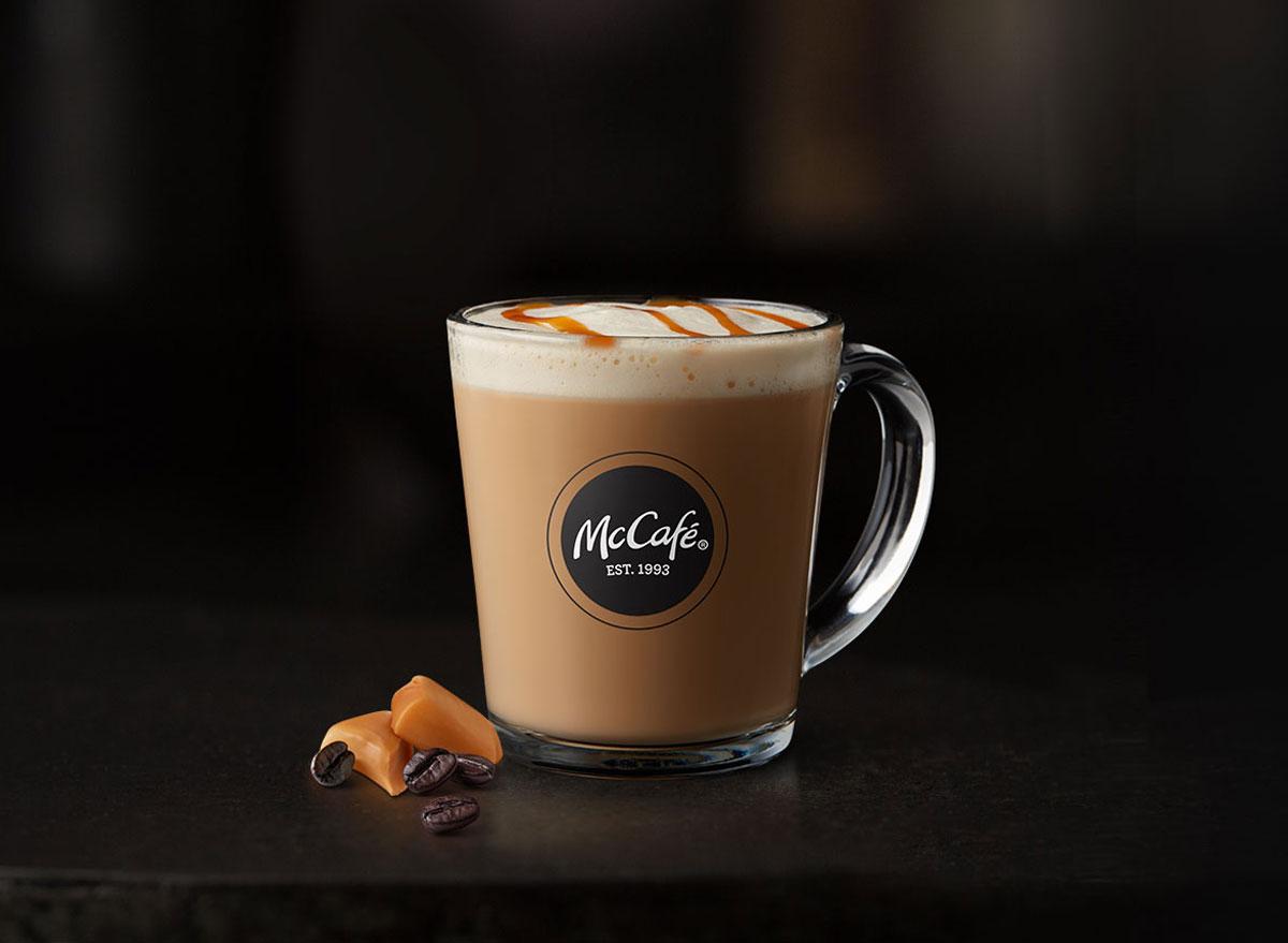 Mcdonalds mccafe caramel macchiato