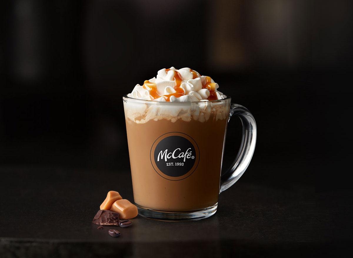 Mcdonalds mccafe caramel mocha