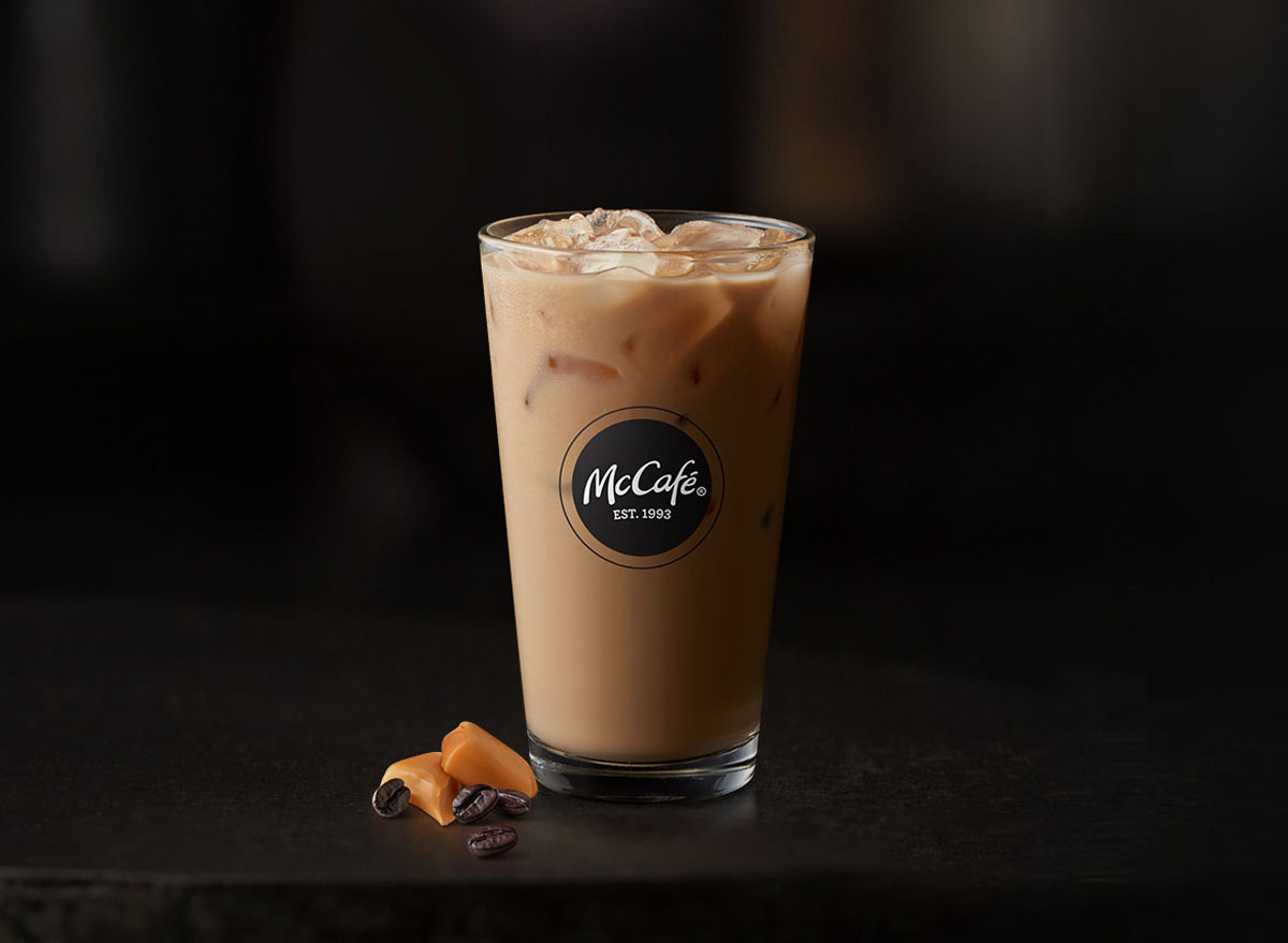 Mcdonalds mccafe iced caramel latte
