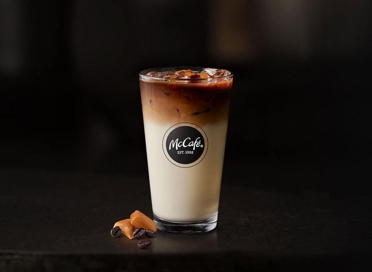 Mcdonalds mccafe iced caramel macchiato