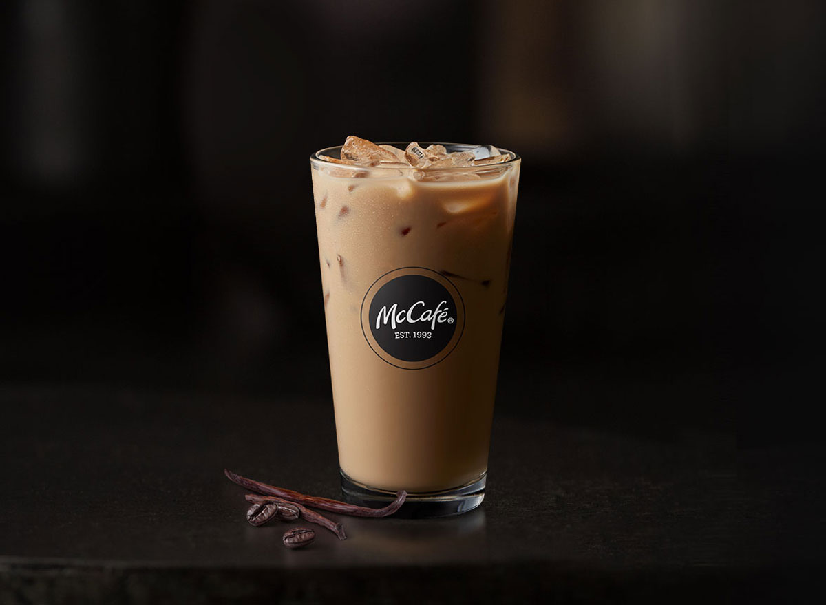 Mcdonalds mccafe iced french vanilla latte