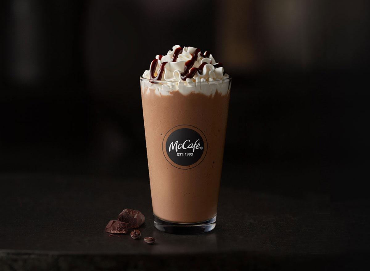 Mcdonalds mccafe mocha frappe
