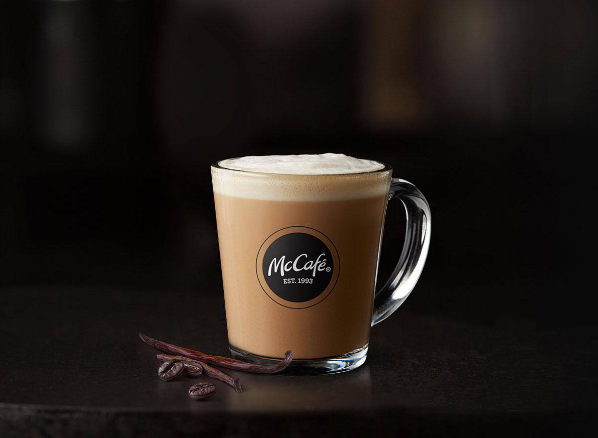 Mcdonalds mccafe vanilla latte