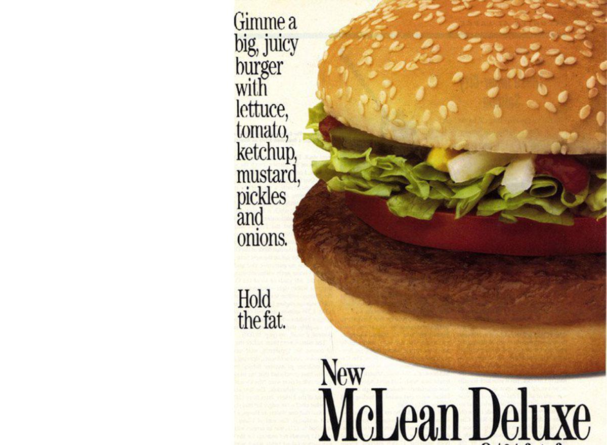mcdonalds mclean deluxe burger ad