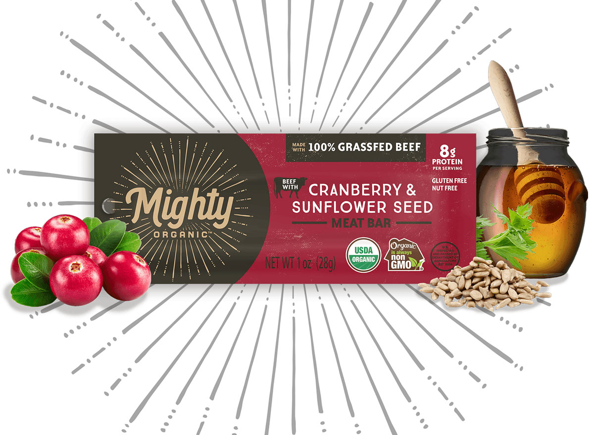mighty organic beef protein bar